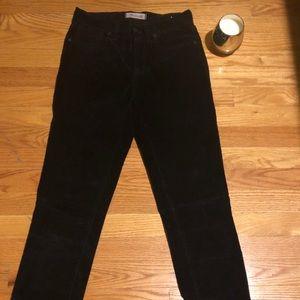 Madewell Suede pants   skinny skinny